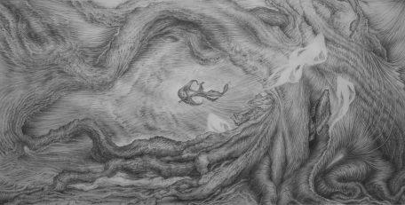 Conjuring Li, 2010, graphite drawing by Jennifer Ramey
