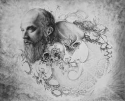 Transcendence and Transience, 2010, graphite drawing by Jennifer Ramey