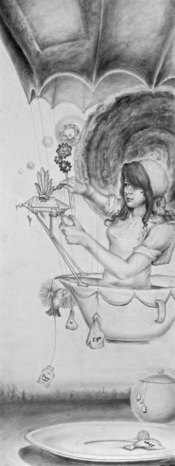 How to Ring a Bell, part 6 of 9 in a series, graphite on paper, by Jennifer Ramey