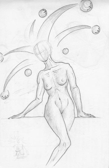 Solemn Jestress, red sketchbook, 2015