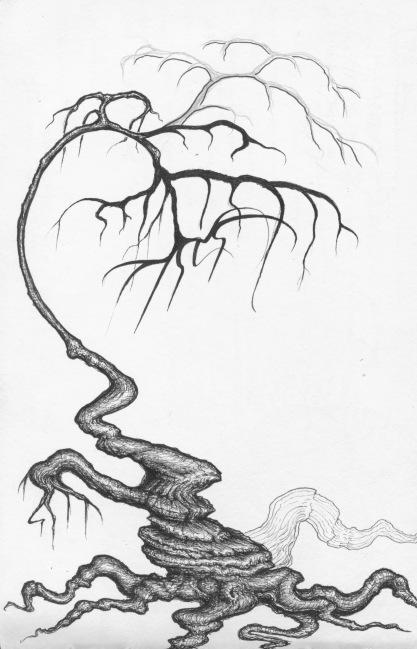 Useless Tree, red sketchbook, 2015