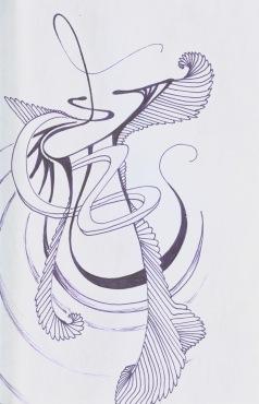 Music sketch, black sketchbook, 2016