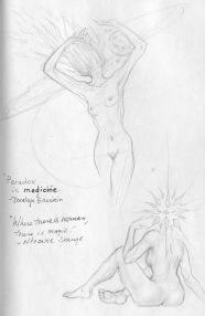 Two women, black sketchbook, 2016